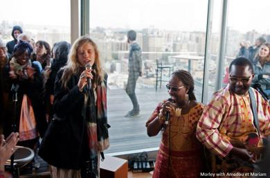 with Amadou et Mariam
